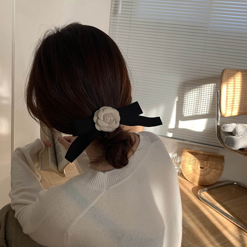 木瓜製品MG STUDIO / 金智妮同款山茶花蝴蝶結發夾女發飾夾子頭飾邊夾少女頂夾發卡