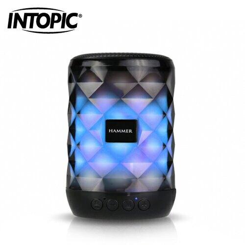 【INTOPIC 廣鼎】多功能炫彩LED藍牙喇叭(SP-HM-BT161)【三井3C】