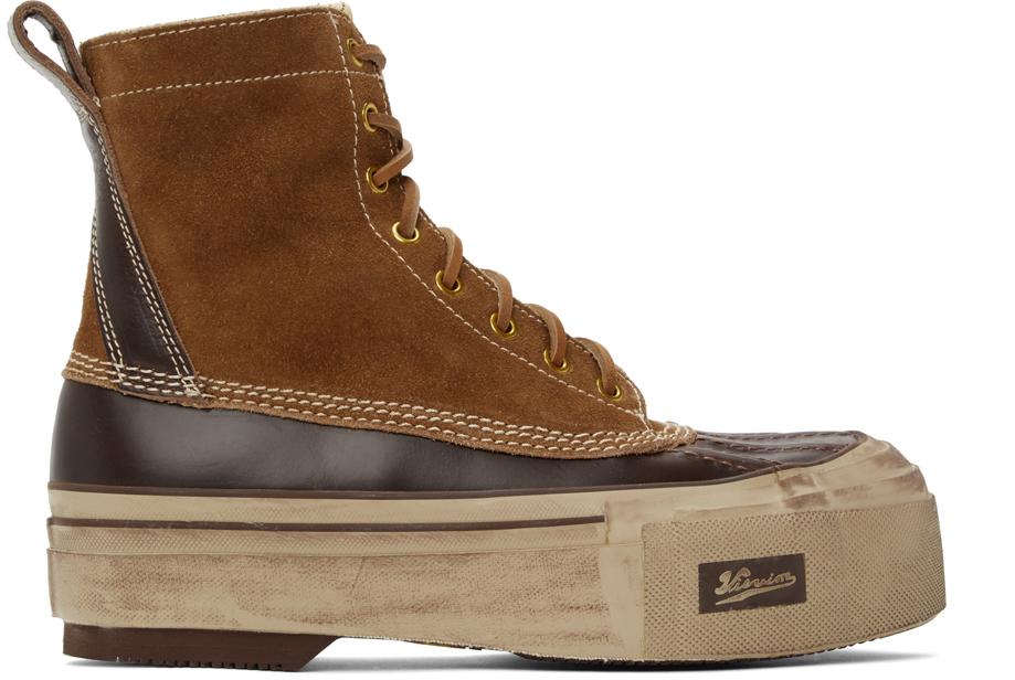 Visvim 黄褐色 & 棕色 Decoy Duck G.Patten-Folk 踝靴