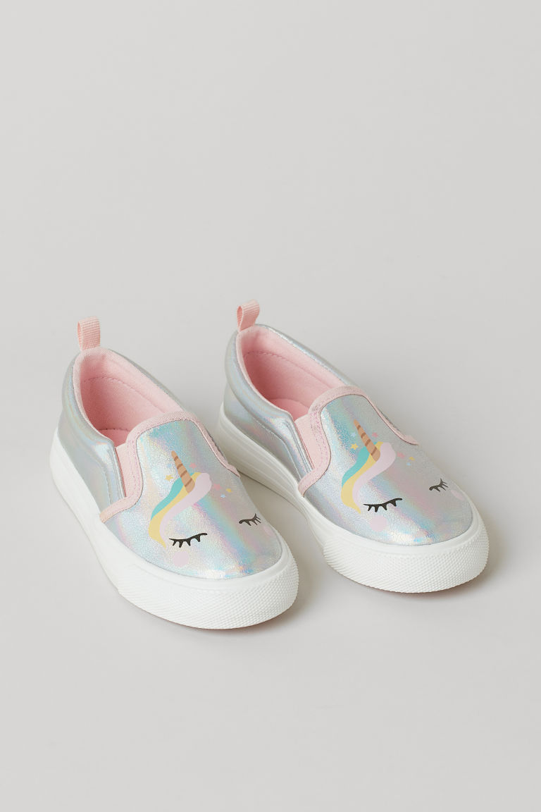H & M - 亮感懶人鞋 - 銀色