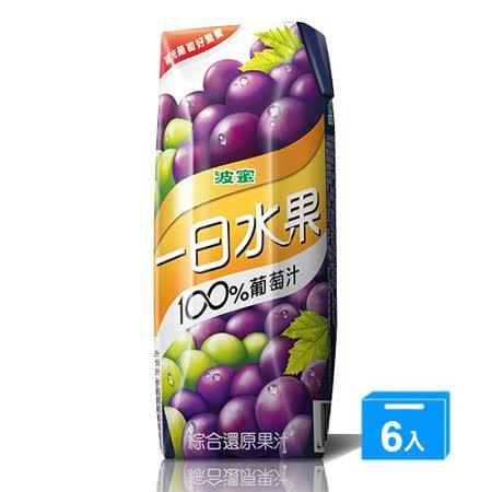 波蜜一日水果100%葡萄汁250ml x 6