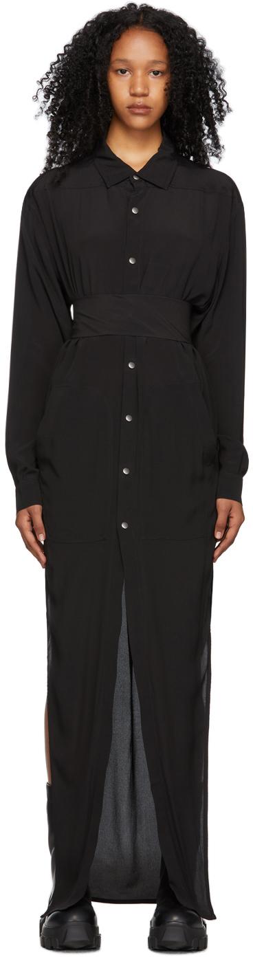Rick Owens 黑色 Cocoon 连衣裙