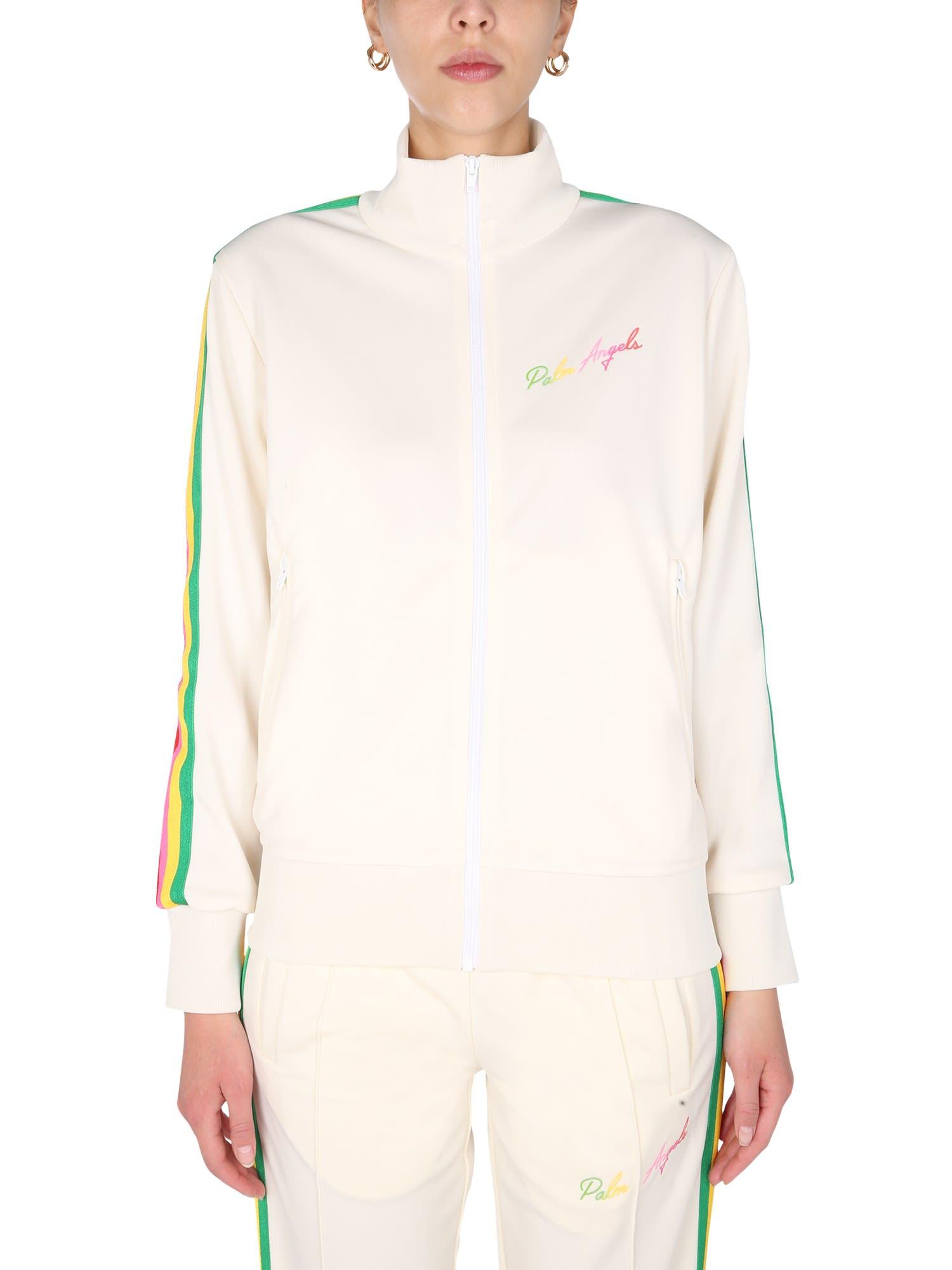 Palm Angels Track Sweatshirt With Zip