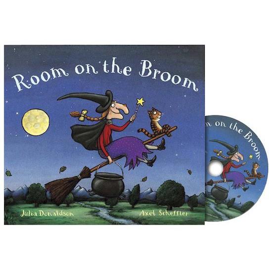 Room On The Broom   Julia Donaldson 書+CD 英文繪本 有聲繪本【歌德書店】