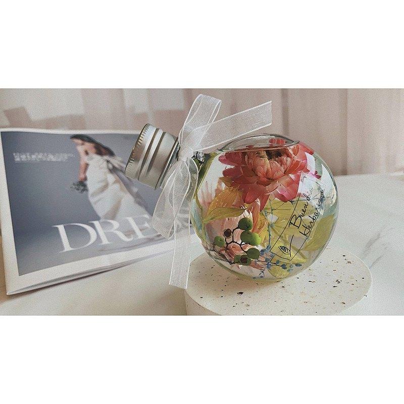 春彩花園 遙望瓶 浮游花 永生花 乾燥花 擺飾 禮物