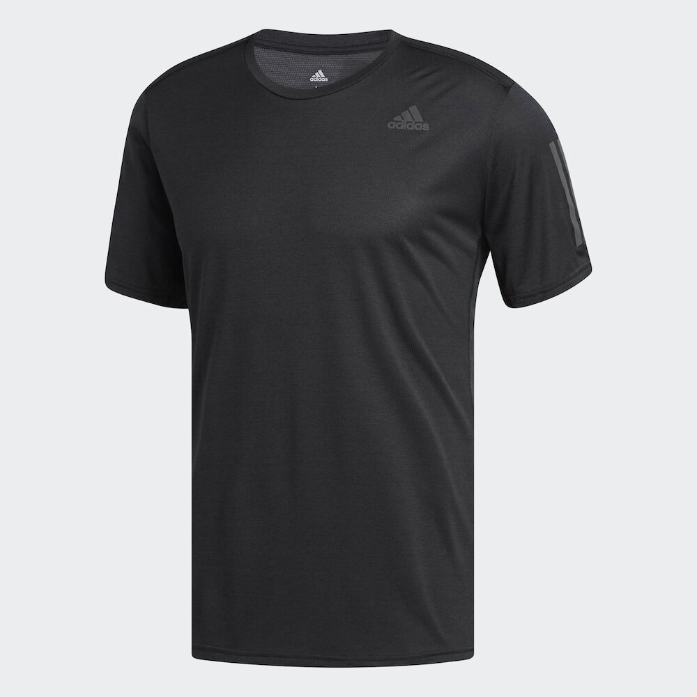 ADIDAS T恤 Respunse Cooler Tee 男款 愛迪達 夜跑 反光 健身 運動 排汗快乾 黑 [CG2190]