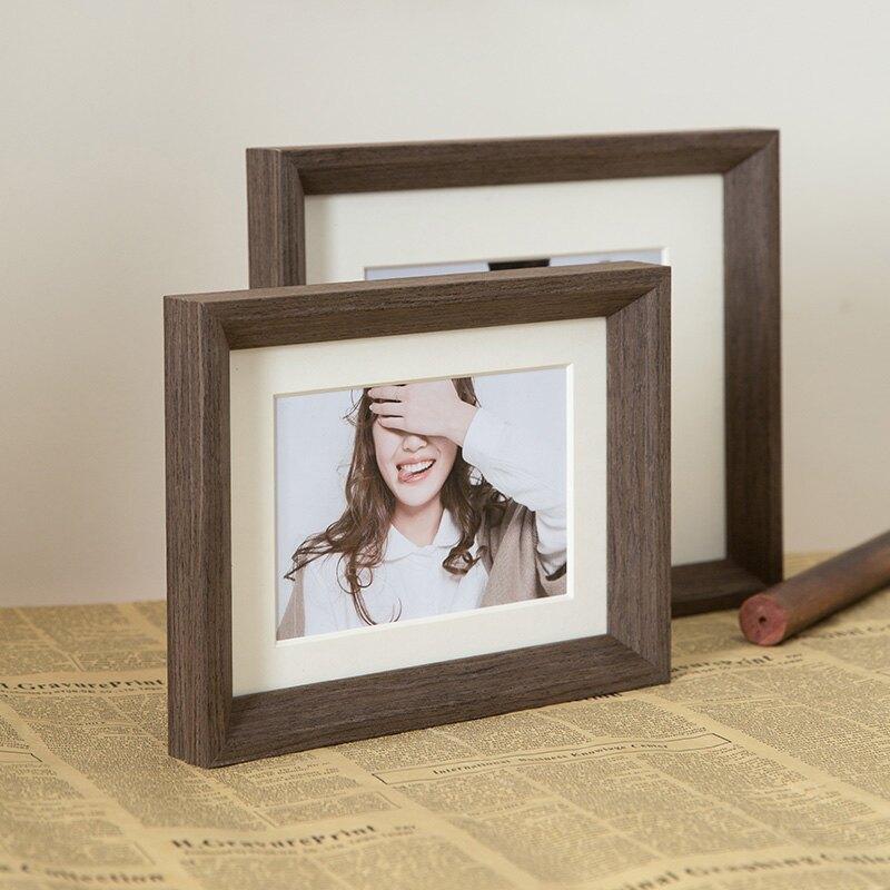婚紗照相框擺臺畫框掛墻免費洗照片做成相框組合照片來圖定制6寸7