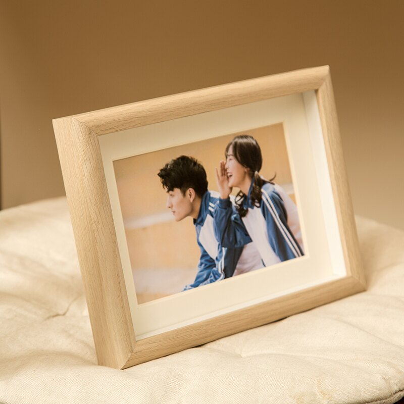 床頭婚紗照畫框掛墻洗照片做成相框組合相片擺臺照片來圖定制6寸
