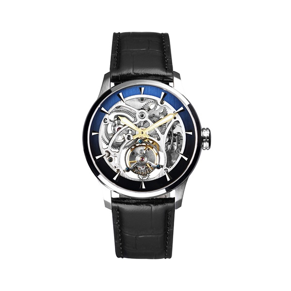 【FIBER】銀河Galaxy限量手上鍊鏤空陀飛輪機械腕錶-時尚黑/FB8012-05TB/台灣總代理公司貨享一年保固