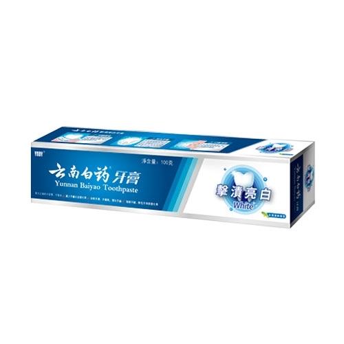雲南白藥擊漬亮白牙膏100g【愛買】