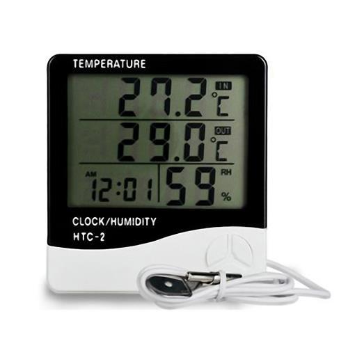 HTC-2 雙溫顯室內外電子溫濕度計