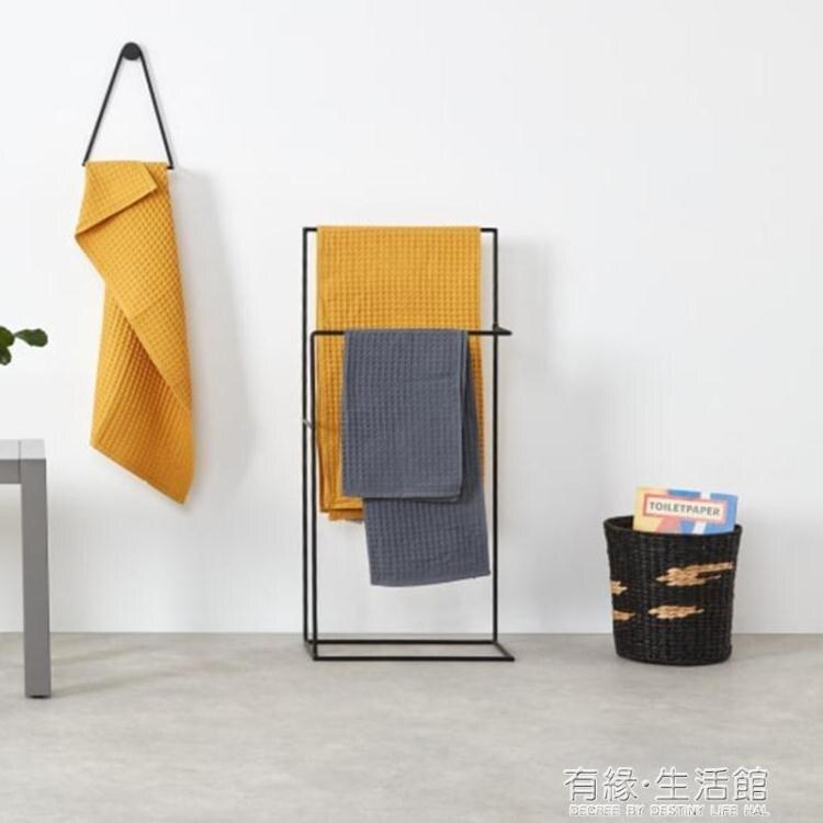 北歐落地浴室迷你毛巾架衛生間浴巾架抹布掛臥室掛衣架收納置物架