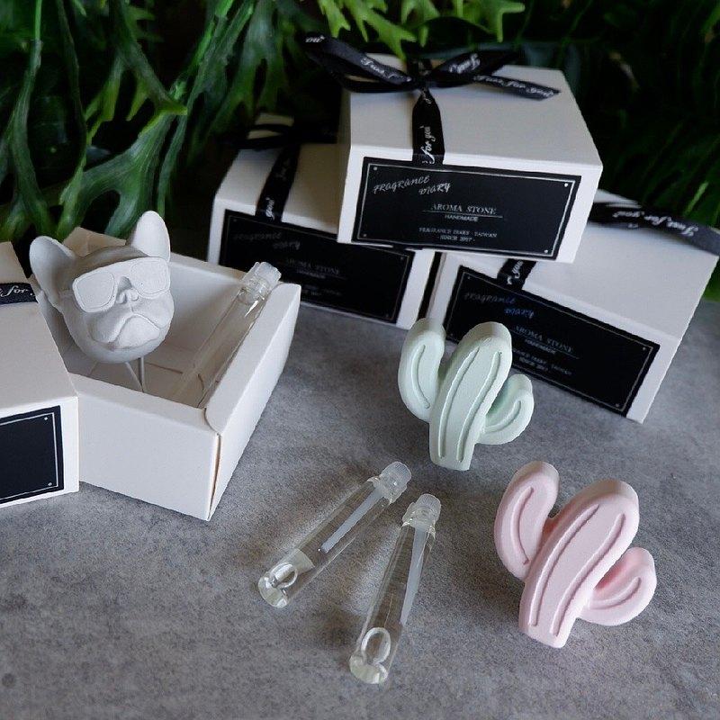 【MINI LIFE x 氛享日記】車用夾式擴香石禮盒-含試管小香