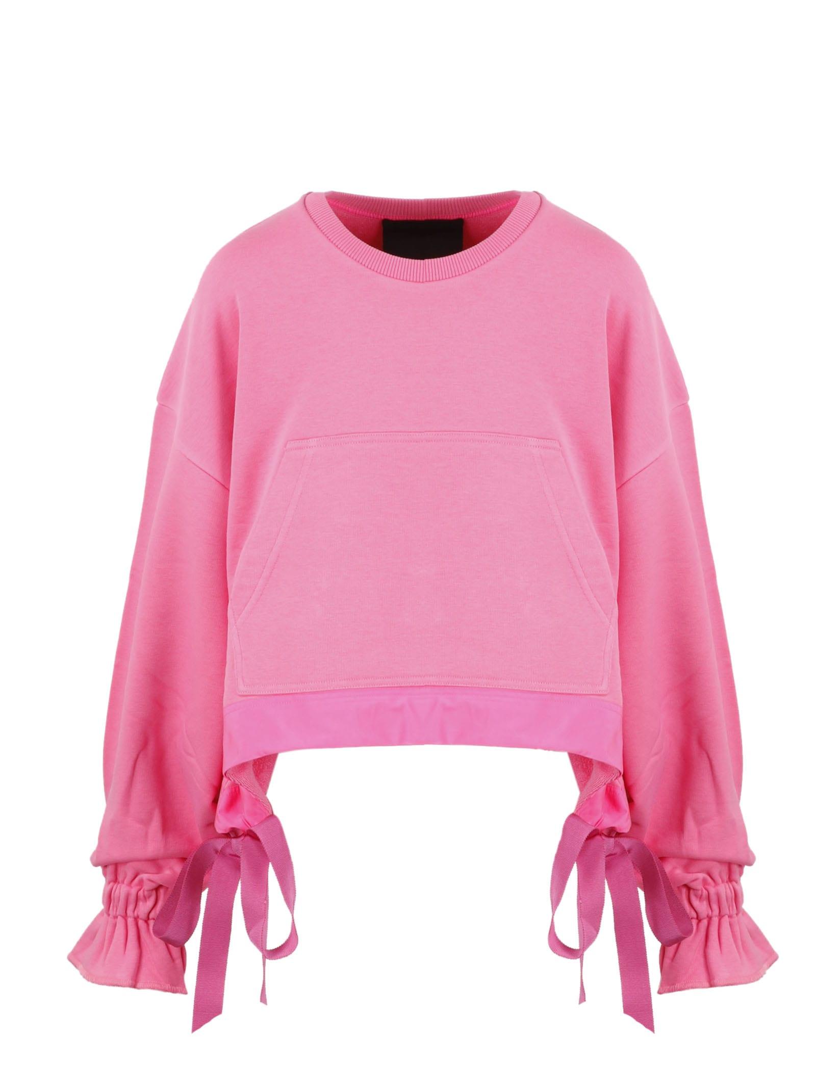 RED Valentino Drawstring Crop Sweatshirt
