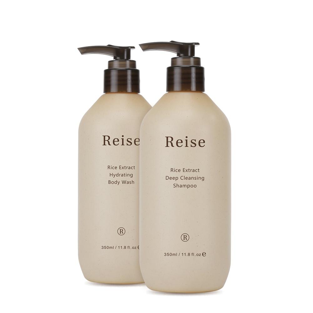 Reise 米膚 |深層潔淨組|深層潔淨洗髮露 350ml + 保濕沐浴露 350ml