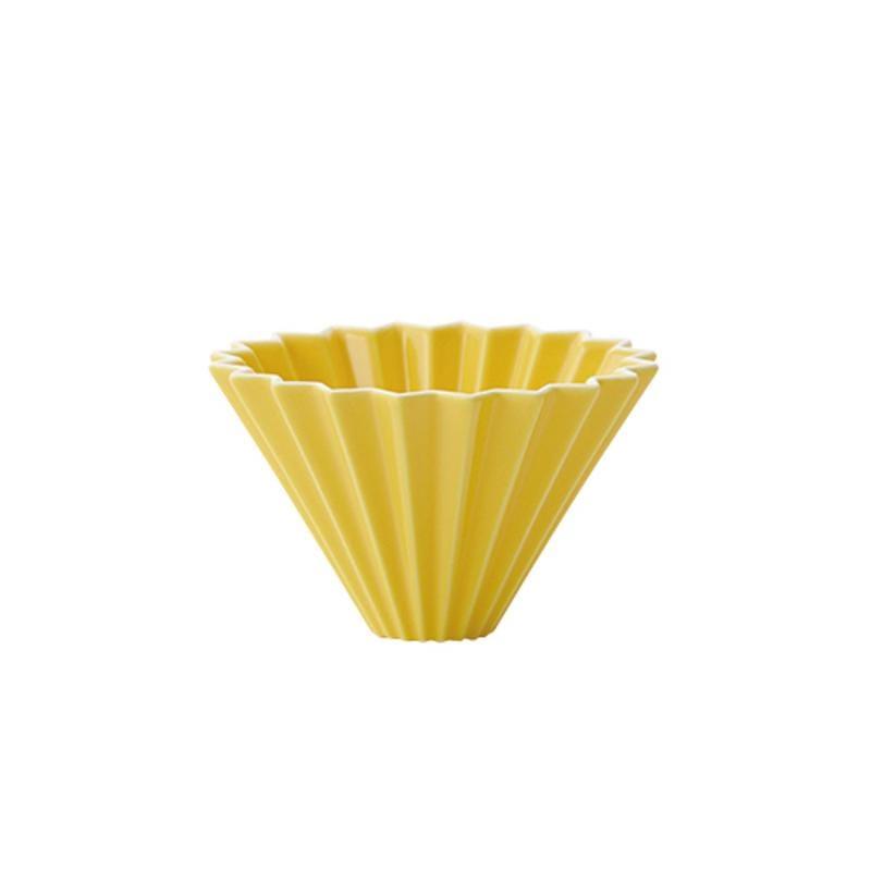 摺紙咖啡 陶瓷濾杯 S 第二代(純色11色)(不含杯座) 湛藍色