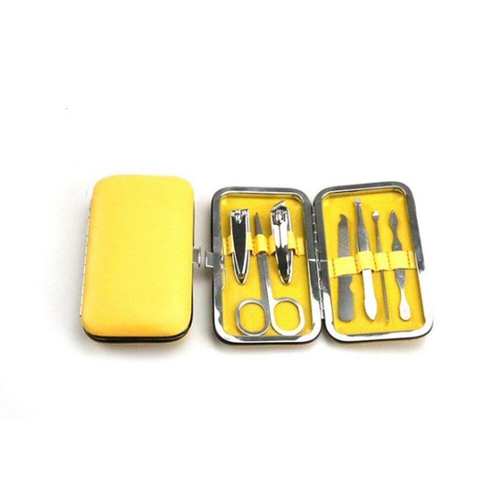 PS Mall【J435】盒裝美甲修容組 剪刀 指甲刀 銼刀 眉夾 粉刺夾 耳勺 鼻毛剪 多件組