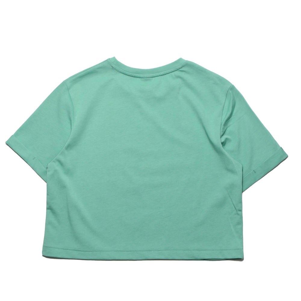 【滿$2500領券現折$350】KANGOL 短T 短版T 淺綠 胸前大英文LOGO 年份 女 (布魯克林) 6122100671