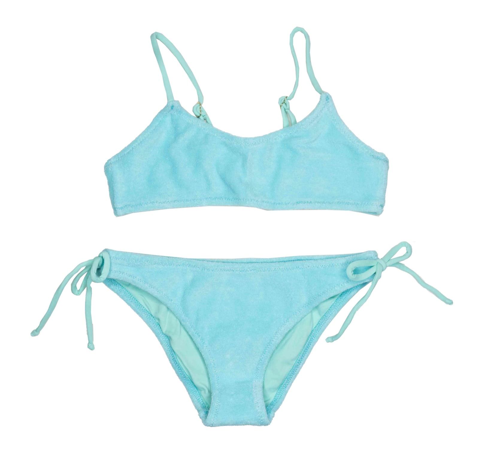 MC2 Saint Barth Sponge Aqua Marine Girls Bralette Bikini