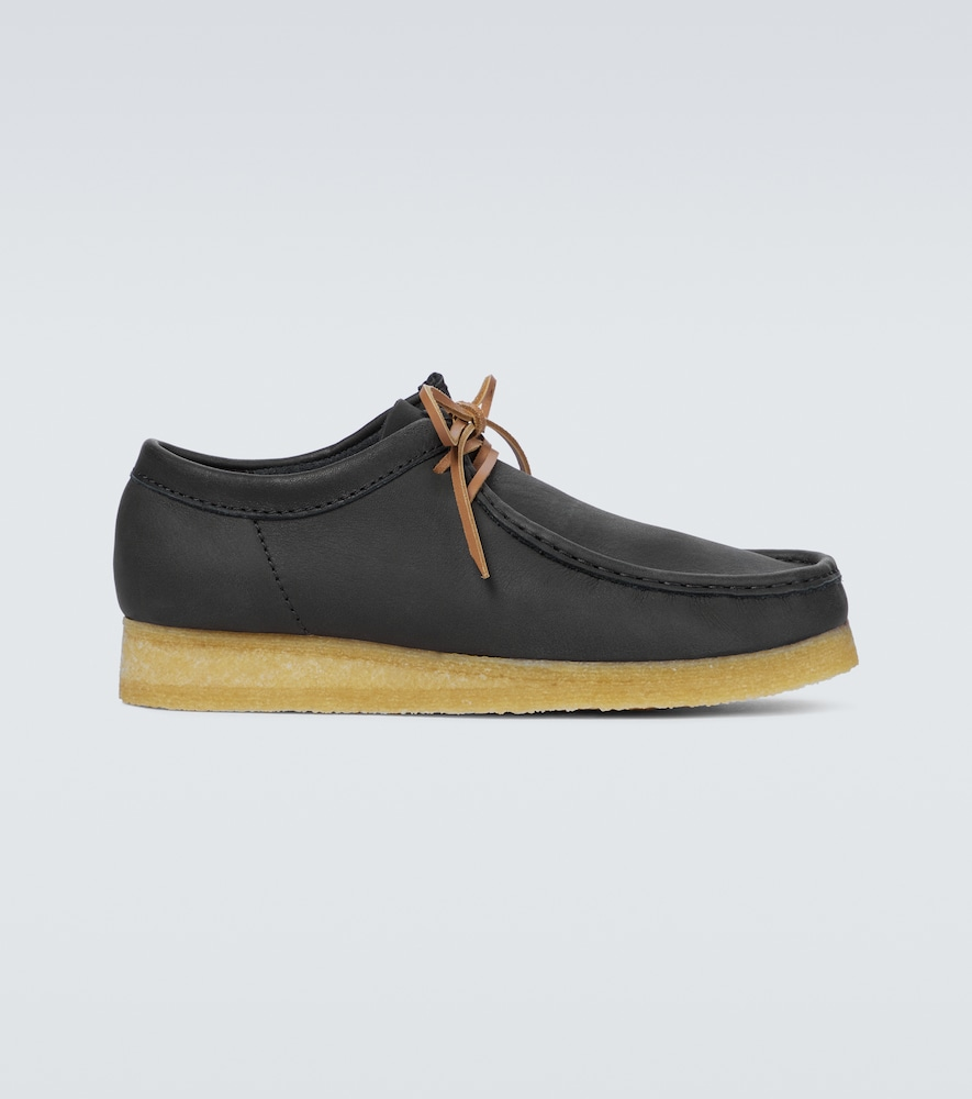 Wallabee leather boots