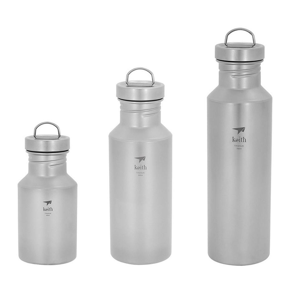 【Keith純鈦】戶外輕量運動水壺(共3款) 鈦水壺 露營水壺 運動水瓶《屋外生活》