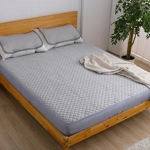 【好物良品】雙人款 日本冷感透氣吸汗水洗床包155x195x30cm灰色
