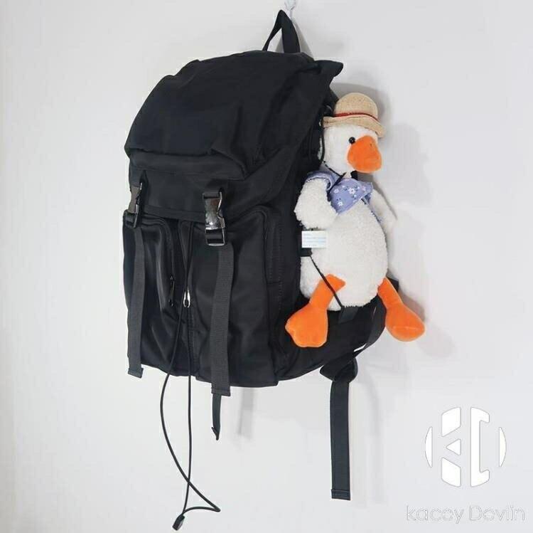 韓版多功能大容量防水背包多兜百搭雙肩包男女書包【聚物優品】