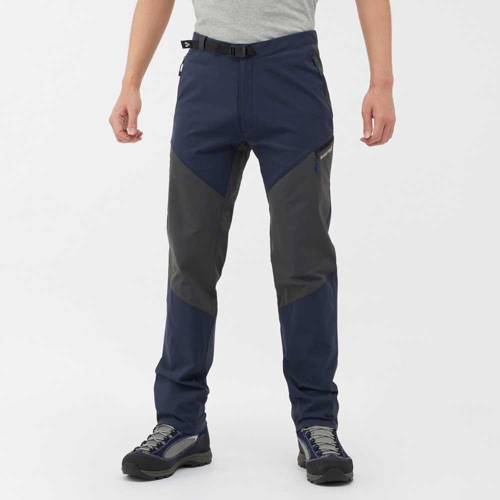 ├登山樂┤日本 mont-bell  登山彈性快乾長褲 男 藍/灰 Ridge Line Pants # 1105521DN/GM