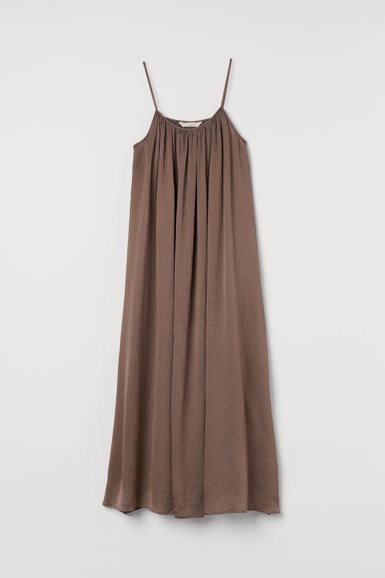 H & M - 真絲混紡長洋裝 - 紫色