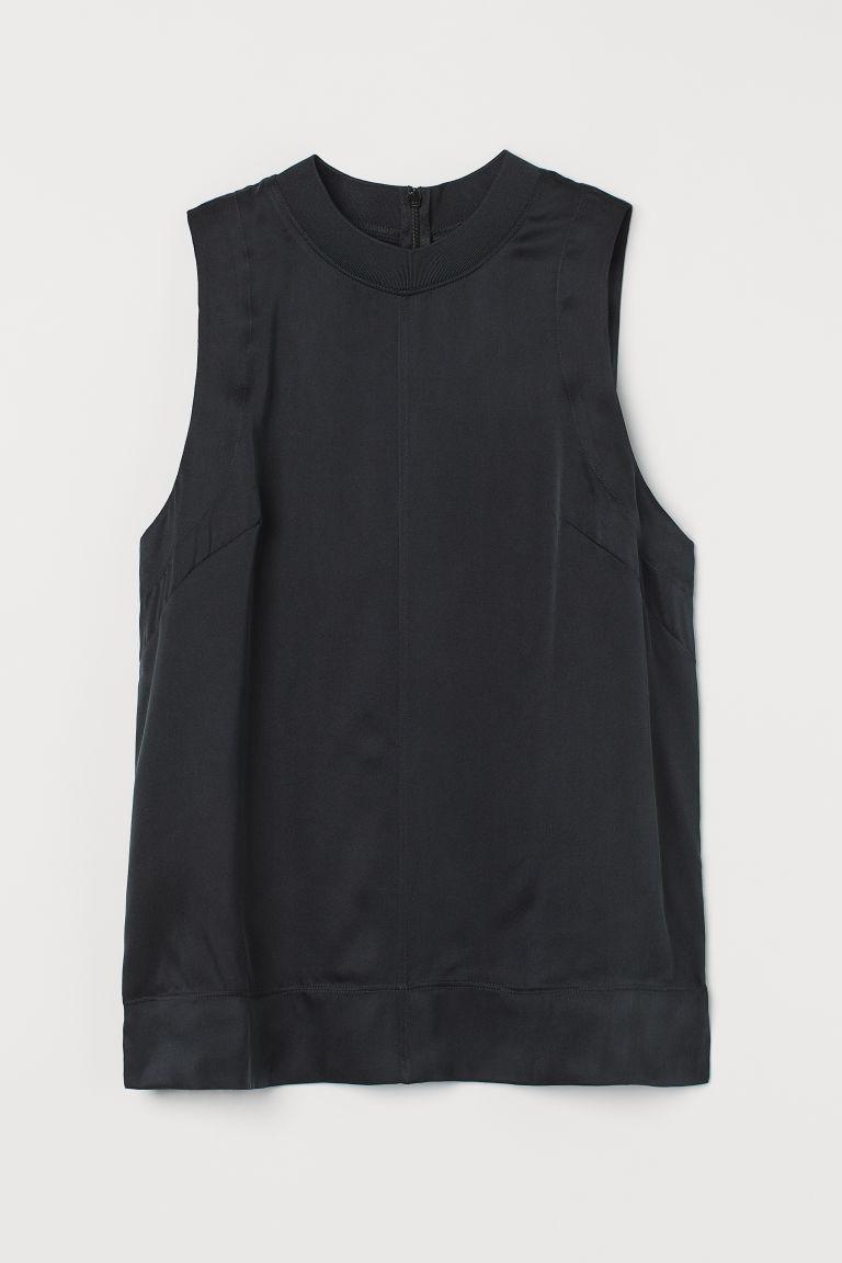 H & M - 真絲上衣 - 黑色