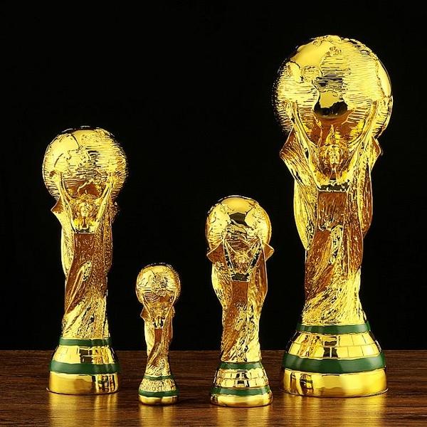 2022世界杯獎杯裝飾擺件 1比1大力神足球冠軍獎杯定制 球迷紀念品