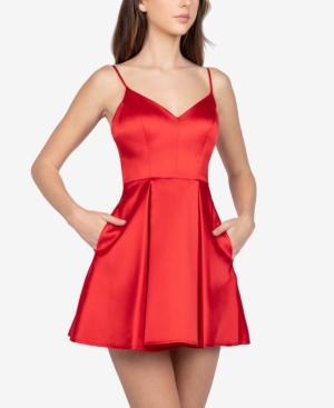 B Darlin Juniors' Pleated A-Line Dress