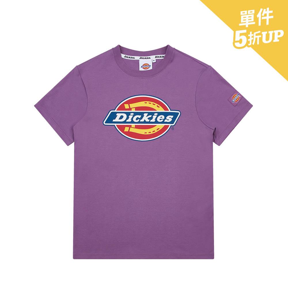Dickies女款紫羅蘭色純棉Logo印花短袖T恤 DK008816B78