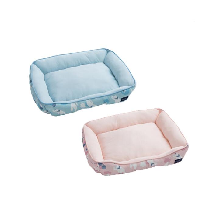 dogfeet 抗菌白熊寵物涼感方形床 粉色 藍色 m號(11091049/11091050