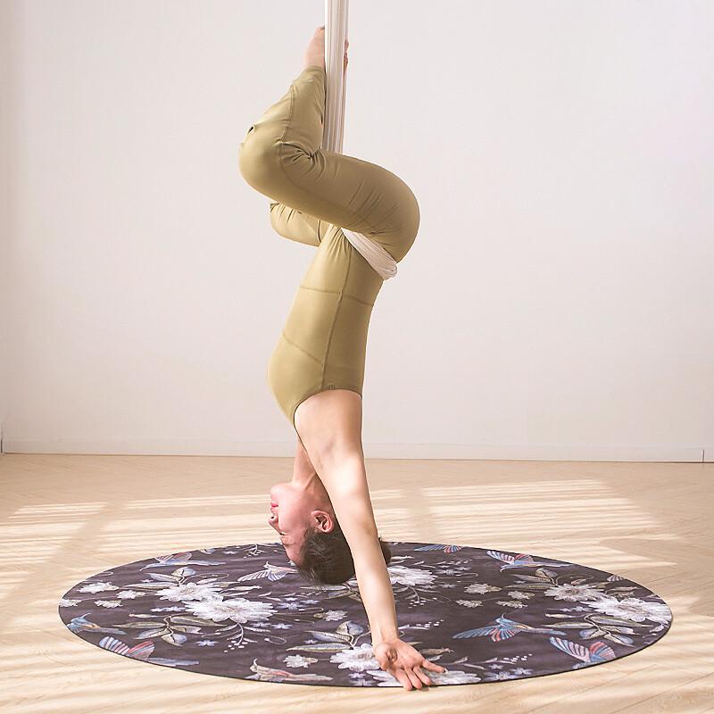 lotus天然橡膠防滑仙女空中瑜珈圓形瑜珈墊3.5mm