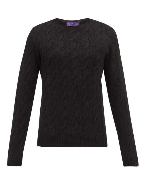 Ralph Lauren Purple Label - Cable-knit Cashmere Sweater - Mens - Black