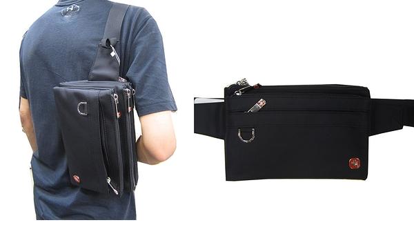 SPYWALK 腰包大容量五層主袋+外袋共七層工作運動隨身品防水尼龍布可腰肩斜背做生意適用SW9380