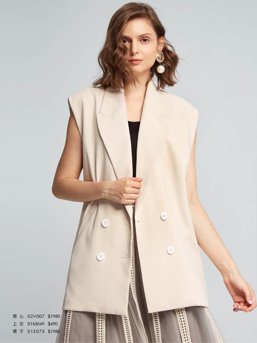 MOMA(02V007)雙排釦西裝背心