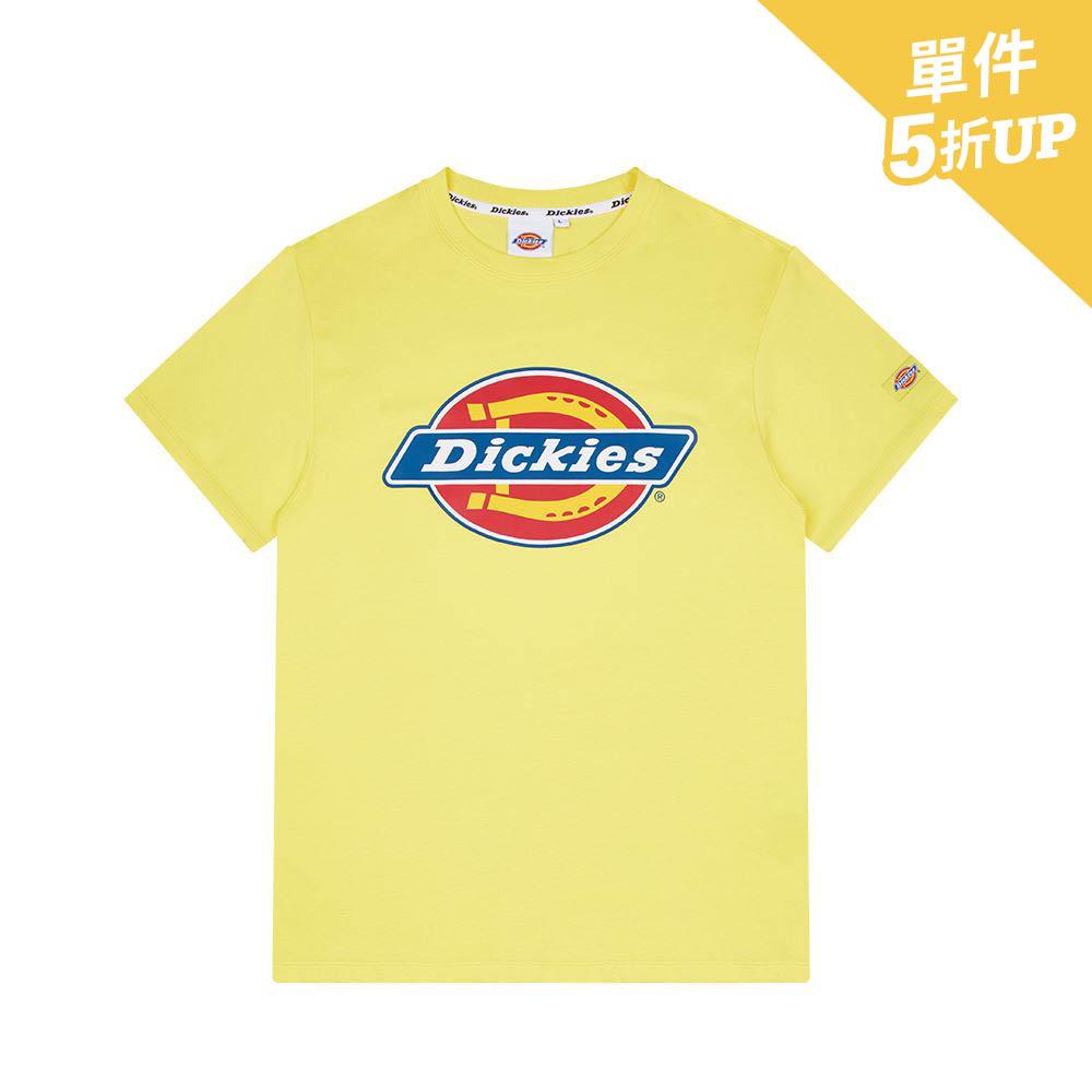 Dickies男款牛油黃Logo印花短袖T恤|DK008732B71