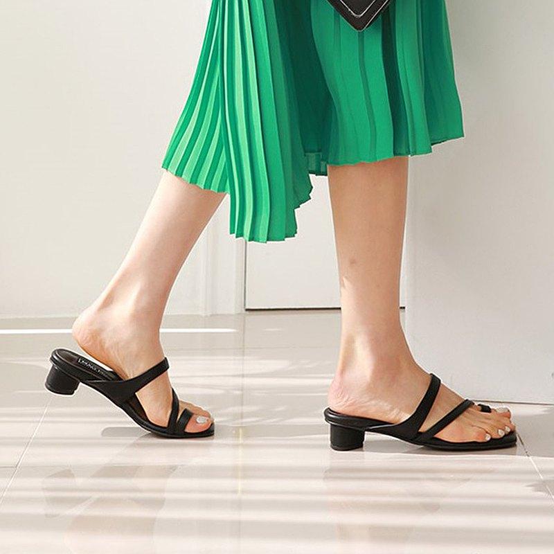 PRE-ORDER韓國人手製 MACMOC Aria Black 涼鞋