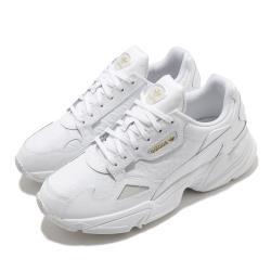adidas 休閒鞋 Falcon W 老爹鞋 厚底 女鞋 愛迪達 三葉草 穿搭推薦 金標 皮革 白 金 FV1116 [ACS 跨運動]