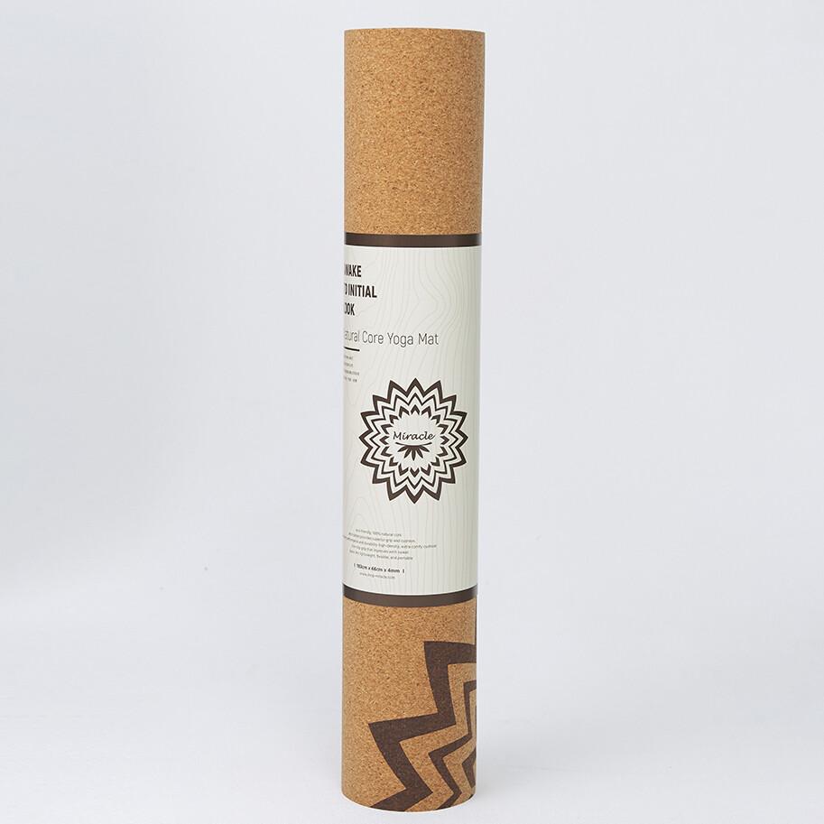 lotus台灣製專業型天然橡膠軟木瑜珈墊4mm 贈專屬收納背袋