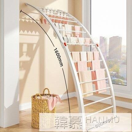 嬰兒落地室內陽台折疊伸縮晾衣架家用臥室飄窗涼曬被子神器