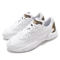 Puma 休閒鞋 Storm Leo Wns 運動 女鞋 海外限定 舒適 簡約 球鞋 穿搭 白 棕 37261202 [ACS 跨運動]