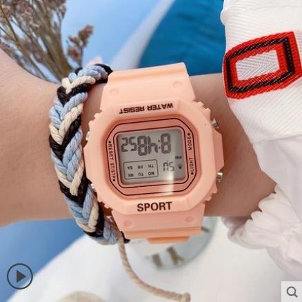 兒童手錶 手錶女ins風學生ulzzang少女獨角獸電子錶    麥田印象