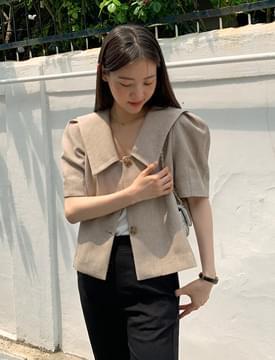 韓國空運 - Latte Sailor Cara Puff Jacket 夾克