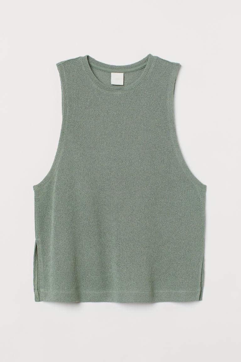 H & M - 背心上衣 - 綠色
