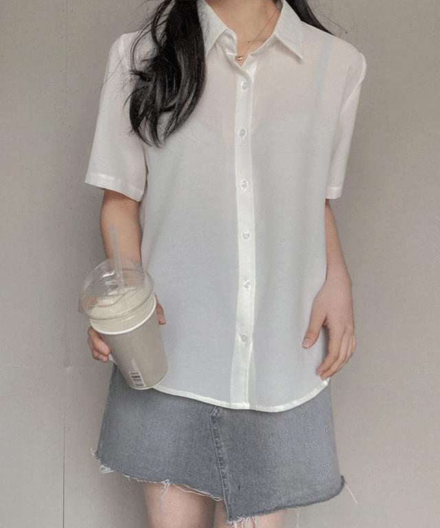 韓國空運 - Rio Wrinkle-Free Short Sleeve Shirt 襯衫