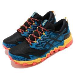 Asics 野跑鞋 GEL FujiTrabuco 8 男鞋 亞瑟士 高抓地力 GTX 防潑水 亞瑟膠 黑 藍 1011A670402