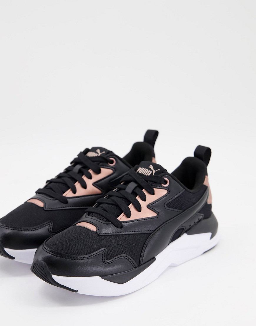 Puma X-Ray Lite trainers in black and gold